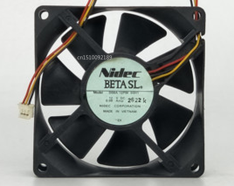 Free Shipping Original For D08A-12PM 12V 0.08A 8CM 80*80*25MM Silent Cooling Fan
