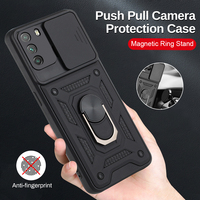 Armadura a prueba de golpes para coche Poco Poko Litte X3, NFC, M3 Pro, F3, 5G, soporte de anillo magnético, cámara de empuje, funda protectora
