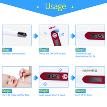 Cofoe Medical Electronic Thermometer Household Digital LCD Thermometre Body Temperature Fever Measure Device for Baby Adult