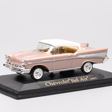 1/43 small Scale brands Yat Ming 1957 Chevrolet Bel Air convertible die casting model Replica car minicar display gift for adult