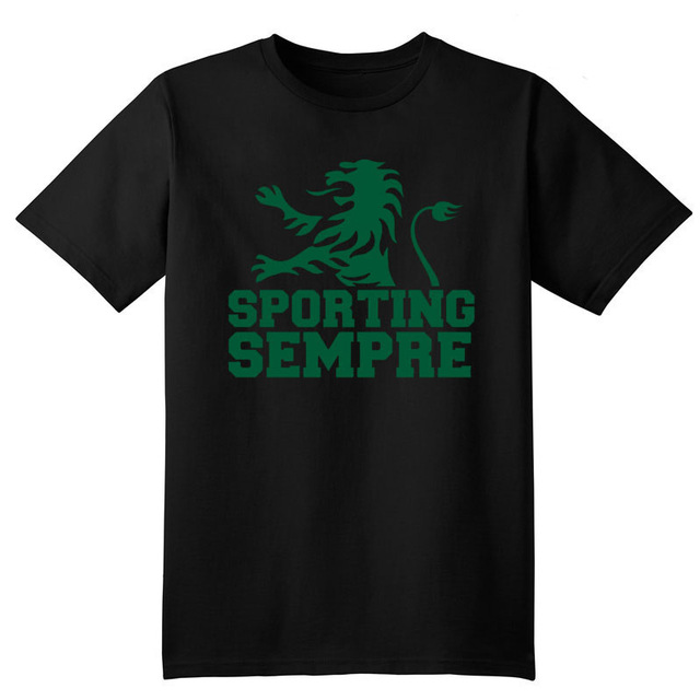 Portugal Sportting Lisbon club t shirt Camiseta Sporting Club de Portugal Lion fans T-shirt Ronaldo Figo camisetas hombre