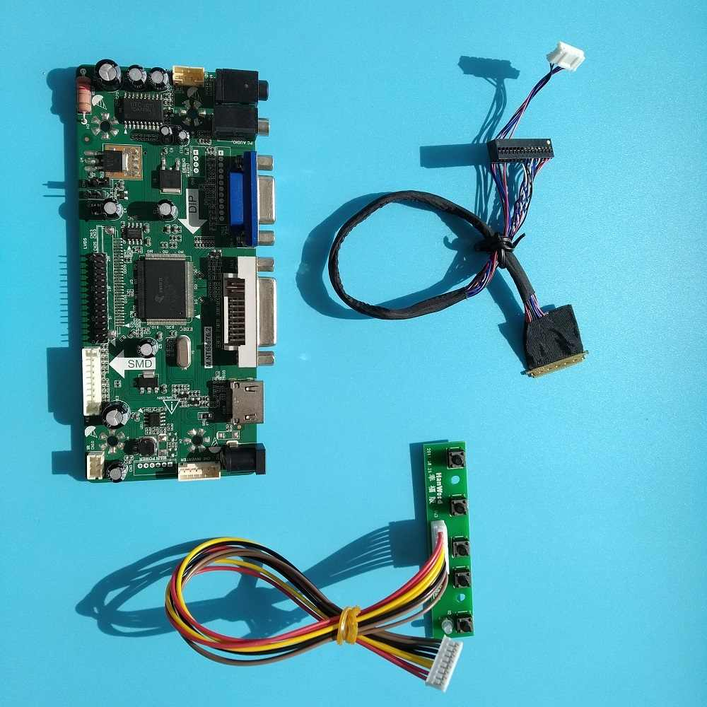 "Voor LTN140AT07 Driver Board Lcd Led 1366X768 Vga Hdmi 14 ""Monitor Card Controller Kit Dvi Lvds Panel Scherm"