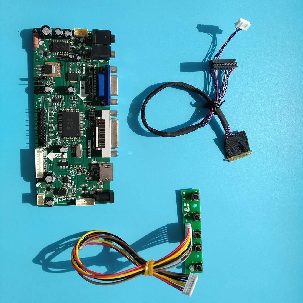 "For LTN140AT07 Driver board LCD LED 1366X768 VGA HDMI 14"" monitor Card Controller kit DVI LVDS Panel Screen"