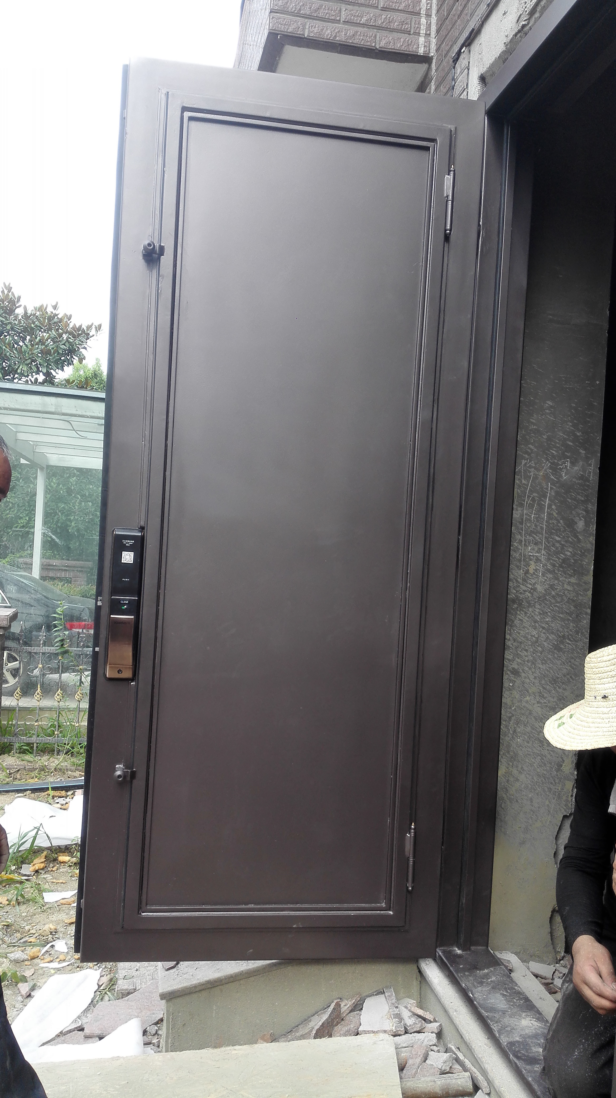 Shanghai Hench Brand China Factory 100% Custom Made Sale Australia Decorative Front Doors With Glass And Iron