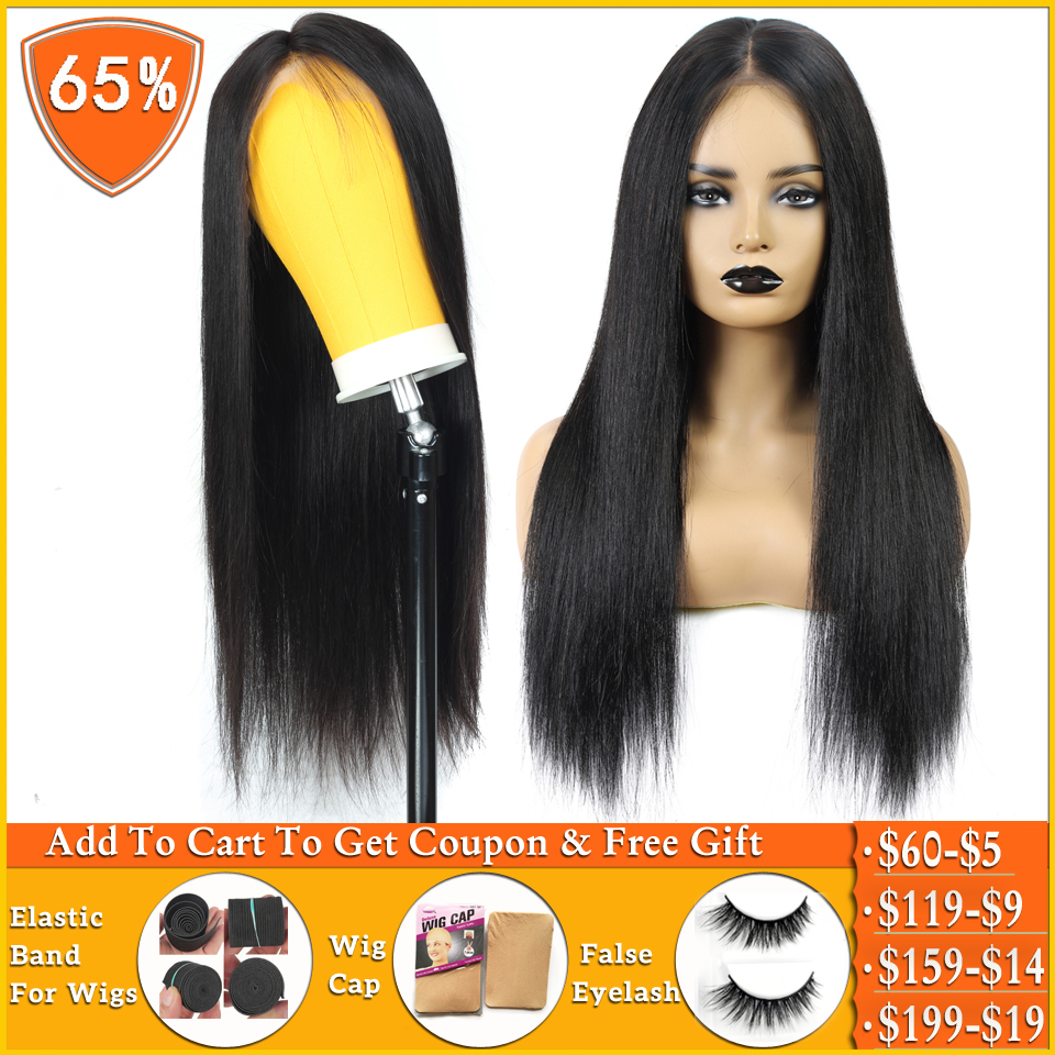 Lanqi Straight 4x4 Lace Closure Wig Pixie Cut Bob Lace Wig Brazilian Wig Short Human Hair Wigs For Women Lace Part Wig Non-remy