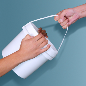 Image 3 - Seau vide en plastique 5L, avec poignée et couvercle, conteneur de stockage de liquides étanche, sans BPA, seau en PP, lot de 2 pièces