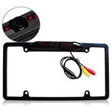 Caméra arrière amérique plaque dimmatriculation support de plaque dimmatriculation caméra de stationnement 8 LED infrarouge alliage angle mort cadre caméra frein