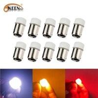 OKEEN 10Pcs P21W 1156 BA15S lampadine a LED 1157 P21-5W BAY15D luci per auto indicatore di direzione luce di retromarcia 12V 24V DC lampada per automobili