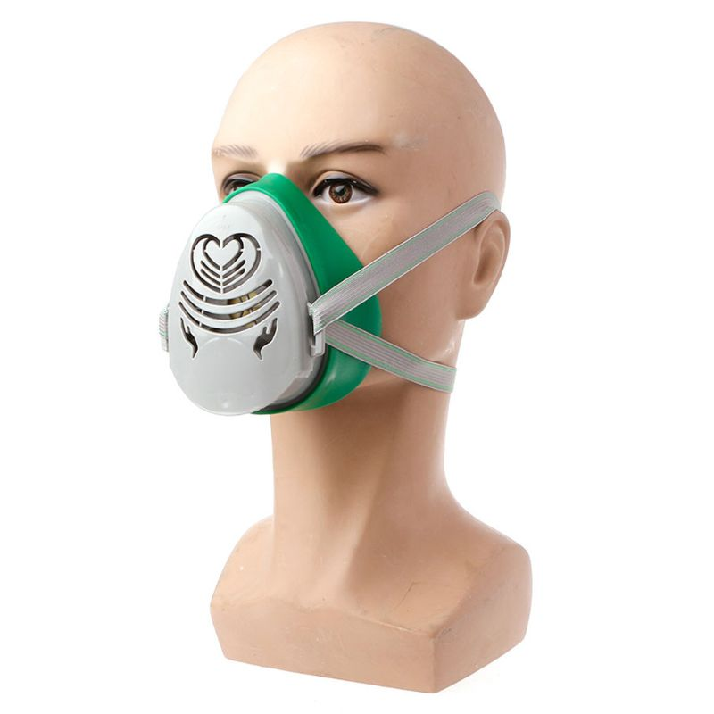 N3800 Anti-Dust Facepiece Filter Paint Spraying Cartridge Respirator Gas Mask DropShip
