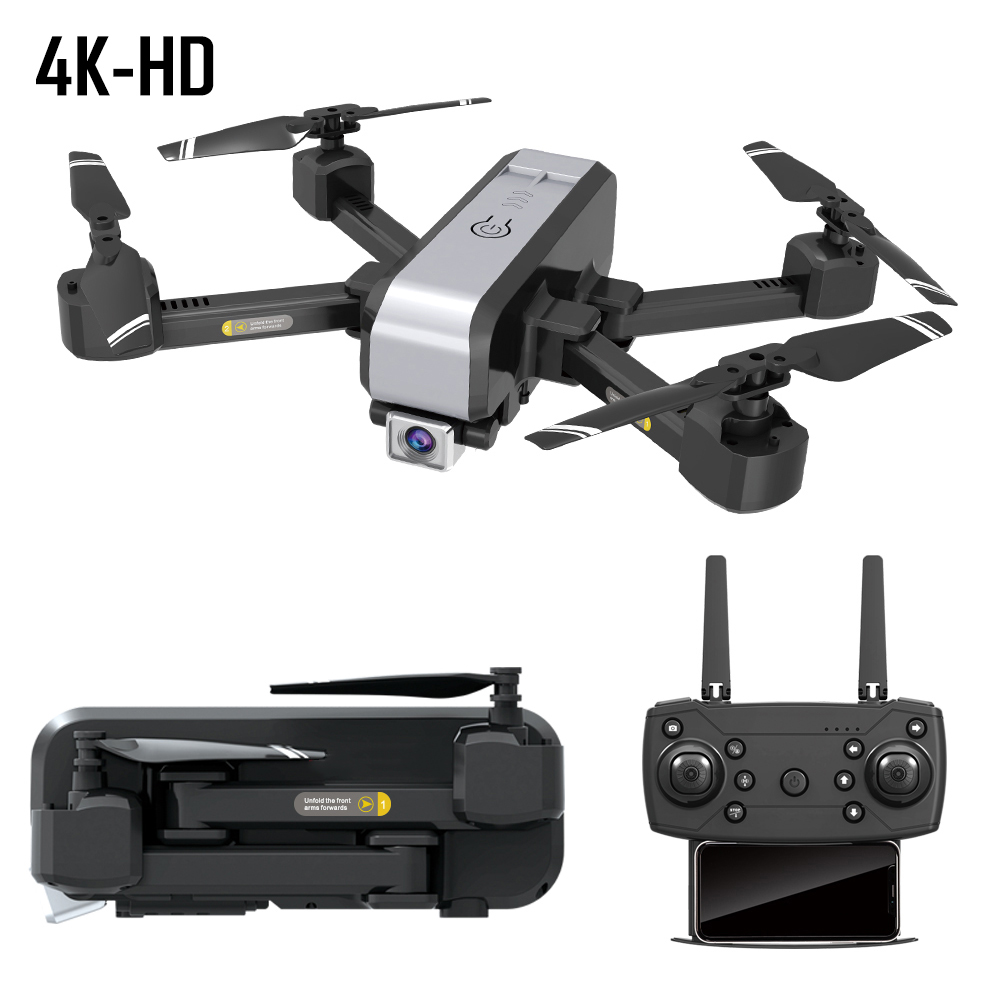 RC Drone Dual Cameras Foldable Wifi Transmission High Definition Fixed Height APP Control Gift One Key Return 4 Axes Quadcopter