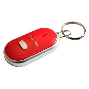 LED Torch Portable Car Key Finder Anti-Lost Key Finder Smart Find Locator Keychain Whistle Beep Sound Control image