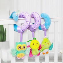 Baby Toys 0 12 Months Hanging Rattles For Kids Babies Plush Rattles Mobile on The Bed
