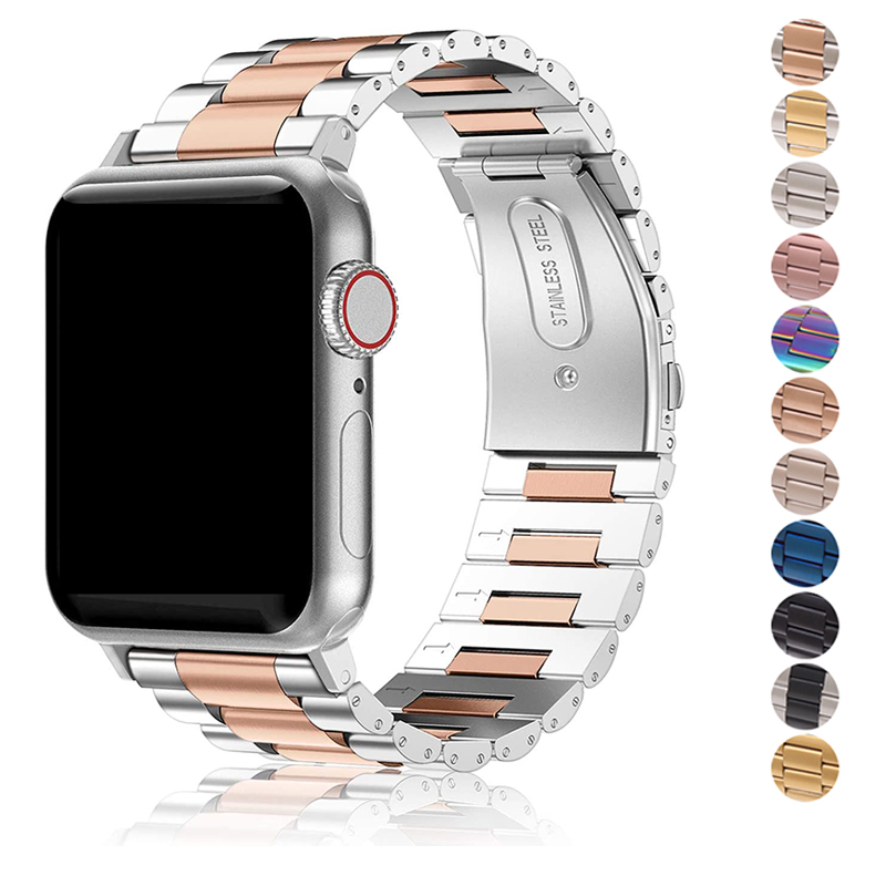Band For Apple Watch 4 5 44mm 40mm 42mm 38mm 1/2/3 Metal Stainless Steel Bracelet Strap for iWatch Series Accessories(China)