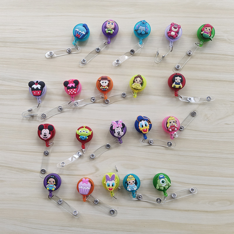 Silicagel Cartoon Nursing Retractable Badge Holder Reels Nurse Work Id Card Holder Office Supplies