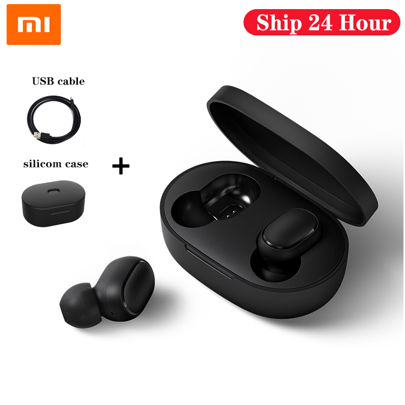 Redmi Xiaomi Airdots TWS Bluetooth Earphones Wireless 5.0 Bluetooth Earphone AI Control Gaming Headset With Mic Noise reduction(China)