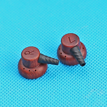 DIY 15.4mm Red Sandalwood Earphones Shell Case MMCX Detachable Wood Earphones Housing