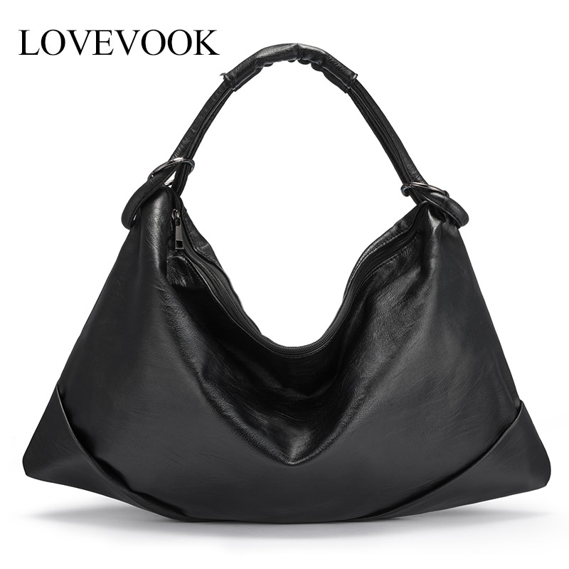 LOVEVOOK Women Shoulder Bag Large Totes Hobos Crossbody Messenger Bag For Ladies 2019 Soft PU Leather Pillow Bags Minimalist