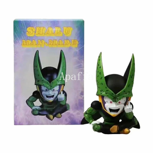 12cm Anime Dragon Ball Ultimate Bot Cell Complete Body Erect Middle Finger Cell Resin Statue Action Figure Model Toy(China)