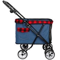 2019 New Lightweight Folding Pet Stroller Dog Cart Cat Stroller Four Wheel Outdoor Travel Supplies Dog Carrier Pet Stroller