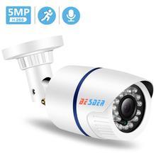 BESDER H.265 HD 2MP/ 3MP/ 5MP di Sicurezza IP Della Macchina Fotografica di SONY IMX335 ABS di Plastica Esterna Audio Macchina Fotografica del IP di DC12V / 48V PoE Impermeabile IPC