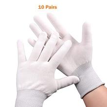 FOSHIO 10 çift iş eldivenleri araba vinil sarma aracı pencere filmi tonu araba sarma kurulum parmak koruyucu naylon anti statik eldiven