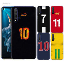 Football Number 10 Case for Huawei Honor 9X 8X Y9 20 S 8C 9 10 Play 8A Lite Pro V20 Y7 Y6 2019 Soft Phone Coque Cover(China)