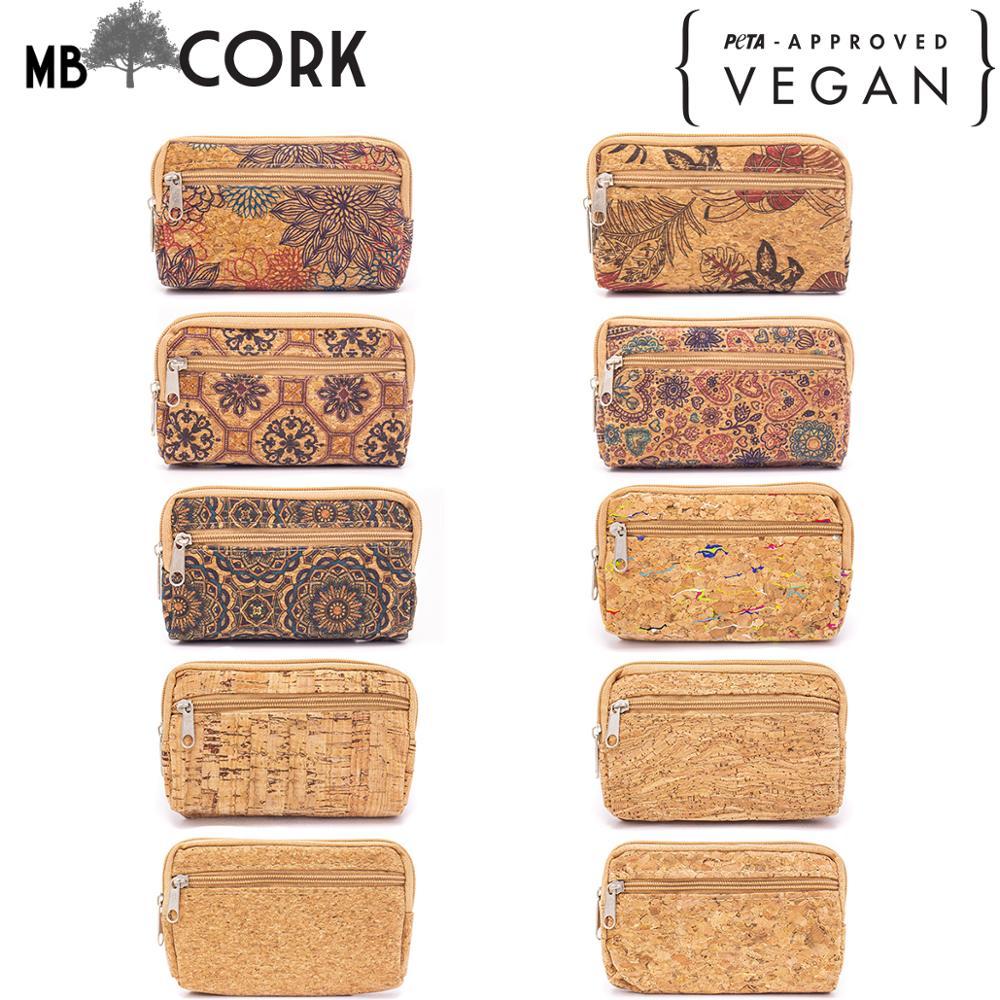 Parrten Natural Cork Purse Zipper Bag For Coin Purse BAG-410