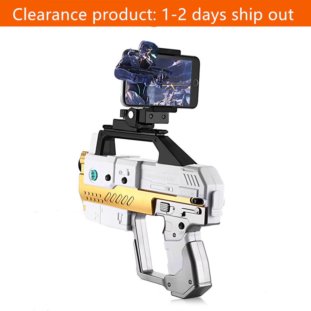 Kids AR Gun Bluetooth 4.2 Game Pistol Gun With Phone Stand Somatosensory Shooting Game Spider Territory APP Connection AR Toy