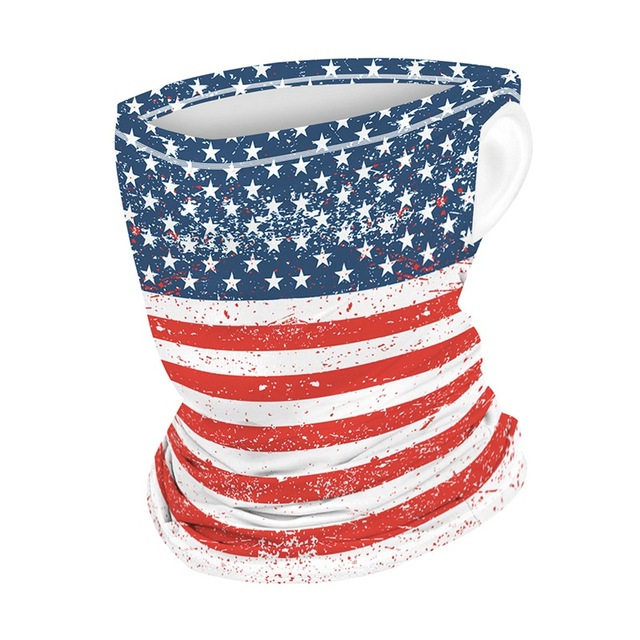 Multifunction Face Coverings American flag outdoor sports breathable mask cool and comfortable scarf magic turban Unisex 2