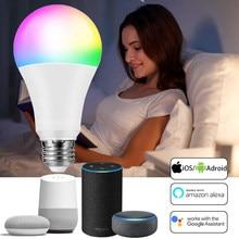 WiFi смарт-лампы функция голосового или ИК-пульт дистанционного Управление Alexa Google Assistant Smart LED светильник лампа Внутреннее освещение светильн...