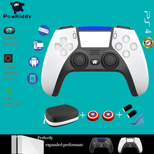Powkiddy Bluetooth Wireless Game Controller For PS4 Console For PS5 Style Double Vibration Game Gamepad For PC /Android Phone
