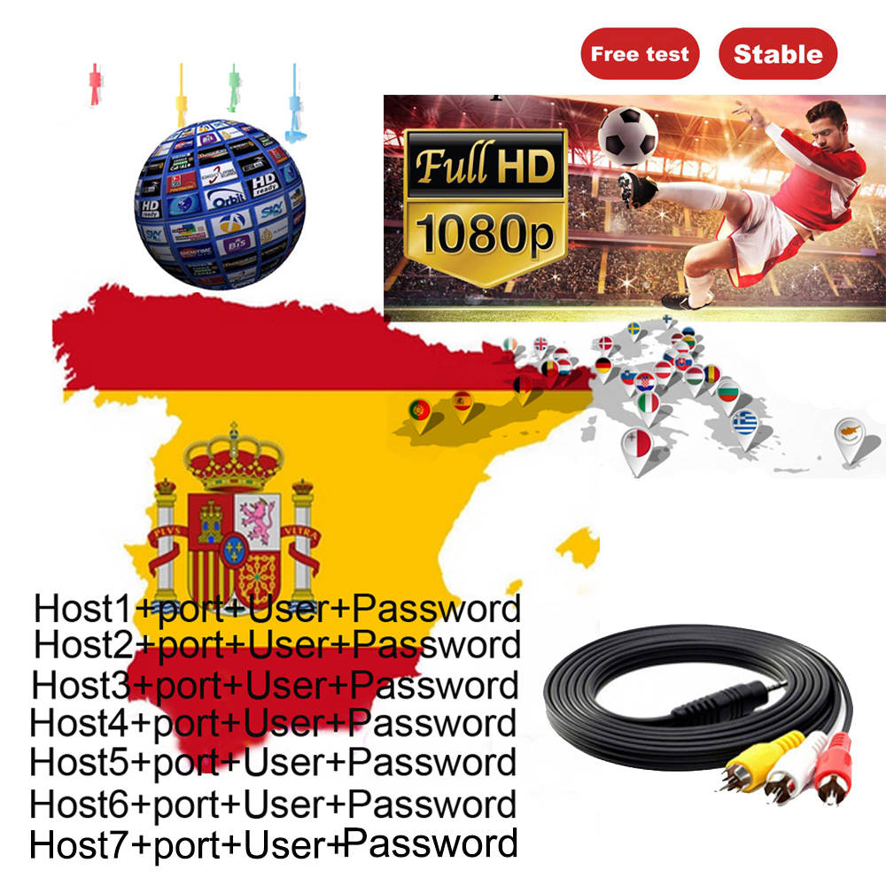 Cccam Cline For 1 Year European Stable Server Portugal Netherlands Germany Poland Satellite TV Receiver Cccam Spain