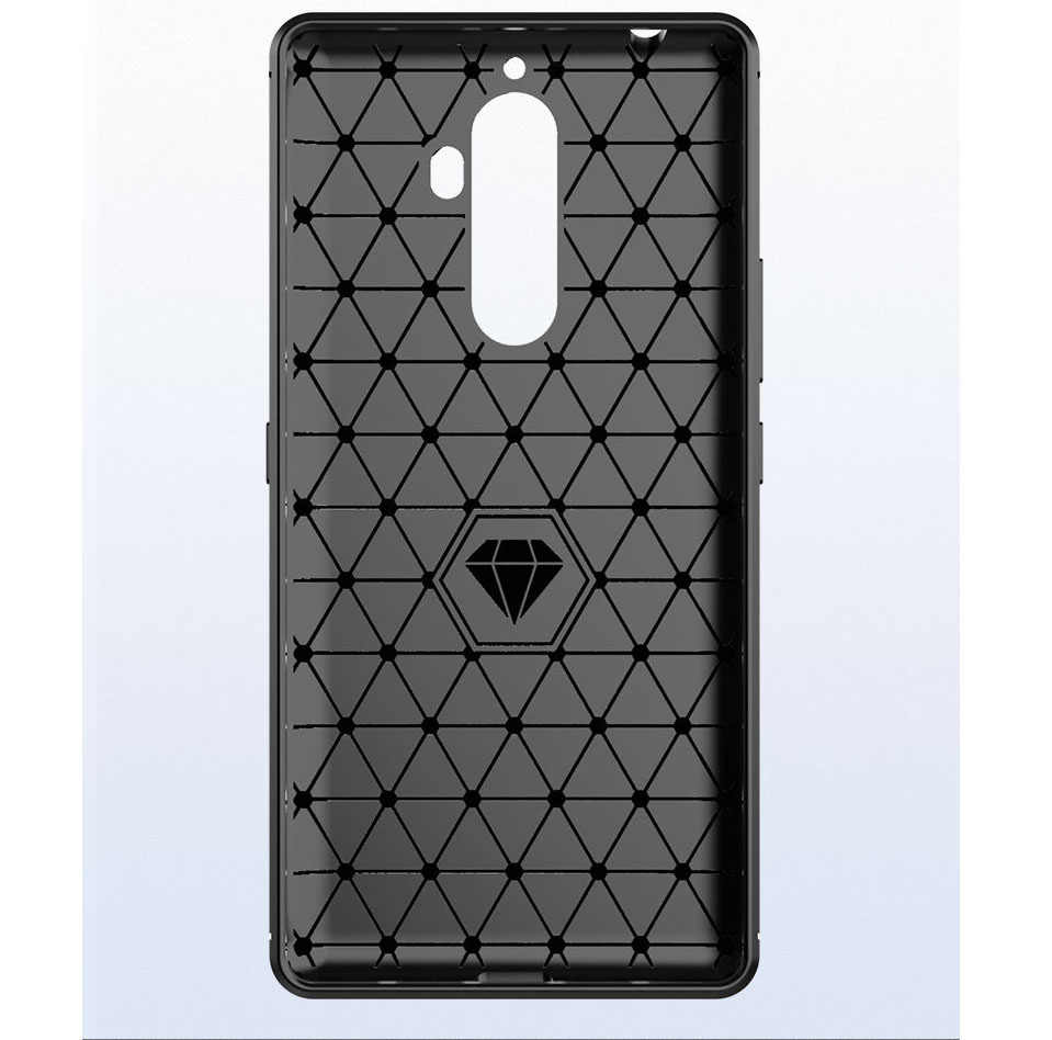3D Ốp Lưng Sợi Carbon cho Lenovo K8 Note Chống Sốc Giáp Điện Thoại Siêu Mỏng Ốp Lưng cho Lenovo K8 Plus Mềm Mại TPU Silicone