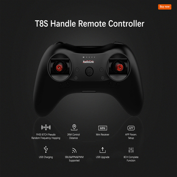 Radiolink T8S Handle Remote Controller 2.4G 8CH FHSS 2KM Transmitter with R8FM Receiver for RC Helicopter FPV Drone Remote