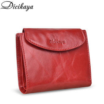 DICIHAYA Genuine Leather Women Wallet Coin Purse For Girls Female Small Portomonee Lady Purse Money Bag Card Holder Mini Clutch yicheng genuine leather women wallet female coin purse walet portomonee clutch money bag lady handy card holder long for girls