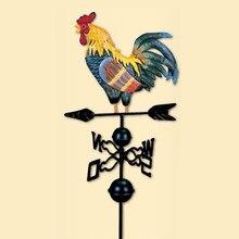 Veleta giratorio de diseño de animales para decoración de jardín, escenario de granja de 47 pulgadas, dirección del viento, estaca para patio