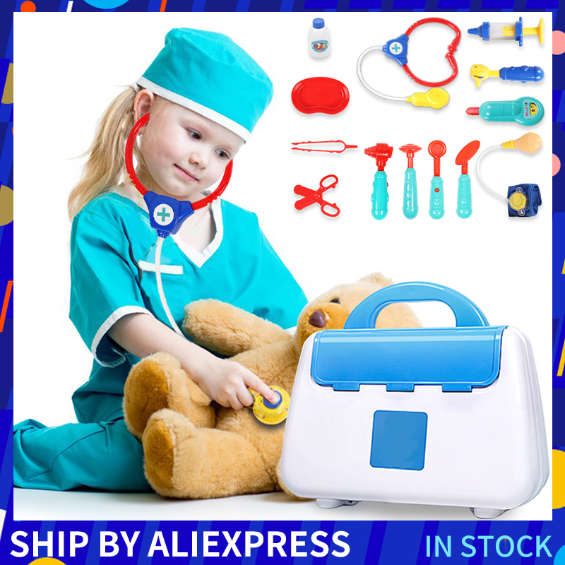 13 Pcs Children Pretend Play Doctor Toy Set Portable Backpack Medical Kit Role Play Classic Toys For Children