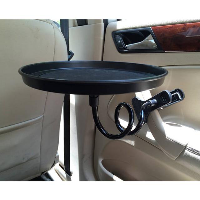 Araba yiyecek tepsisi kelepçe braketi katlanır yemek masası içecek tutucu araba palet arka koltuk su araba bardak tutucu araba döner tepsi