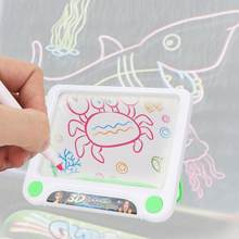 Child Fluorescent Drawing Light Paint Board Early Educational Toy Kids Funny Paint Toy Board Set with 2 pen Developing Toy(China)