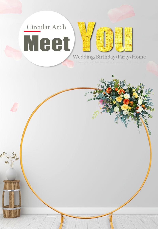 2m círculo ferro arco do casamento ao