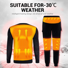 Underwear Ski-Wear Heated T-Shirt Winter USB Men Pants-Set Battery-Powered Latest