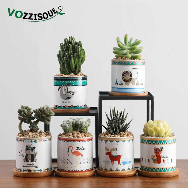 Cute Animal Plant Pot Indoor Succulent Bonsai Pot Ceramic Plant Pots Decorative Flower Pots Home Planters Small Flowerpot Cactus Aliexpress