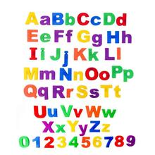 26Pcs Lower/Upper Case Alphabet Letters Number Fridge Magnet Kid Learning Toy