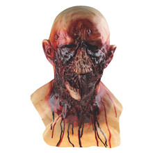 Cosplay Masks Horror Bleeding Zombie Long Tongue Latex Mask Full Over the Head Scary Mask for Halloween