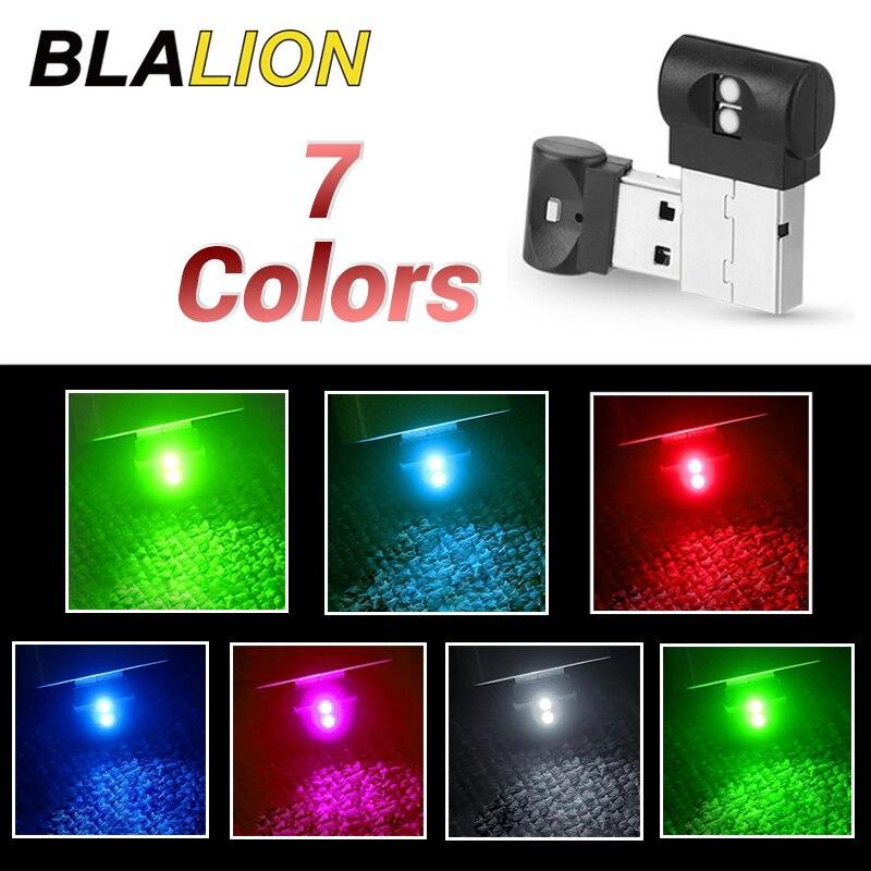 Mini LED Car Atmosphere Light USB Ambient Lamp LED Modeling Lights Button Control Car Interior Decorative Light Auto Accessories