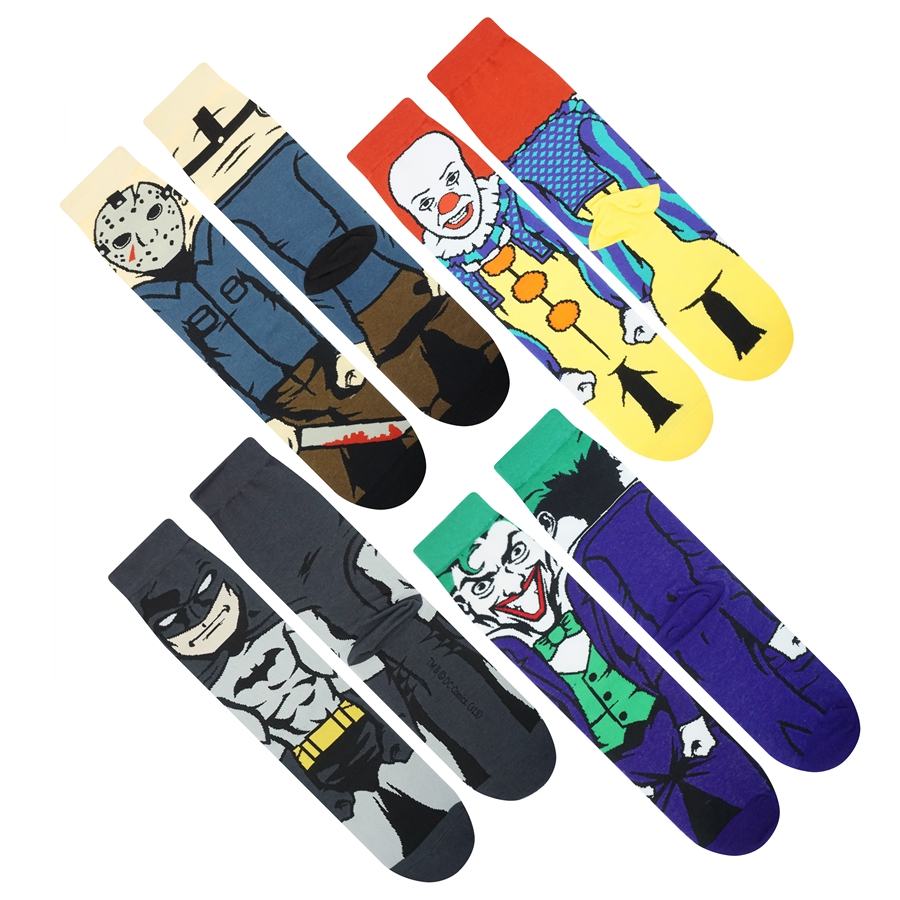 Men Cartoon Sock Personality street skateboard cotton socks