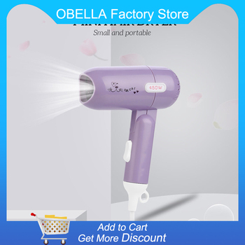 450W Foldable Mini Hair Dryer Household Dormitory Travel Blow Dryer Lightweight Quick Drying Hairdryer Styling Tool Low Noise 31 portable mini foldable 1200w hair blow dryer travel hair dryer compact blower