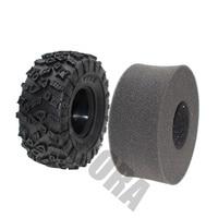 INJORA 4Pcs 2.2 Inch Rubber Tyres Wheel Tires for 1/10 RC Rock Crawler SCX10 RR10 Wraith YETI 90026 90020 90031 90045 90056 5