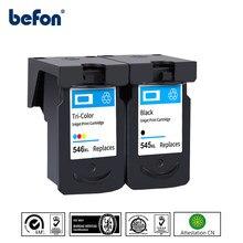 Befon 545XL 545 XL CL546 Substituição Do Cartucho Compatível para Canon PG 545 para Pixma MG3050 PG545 2550 2450 2550S 2950 MX495