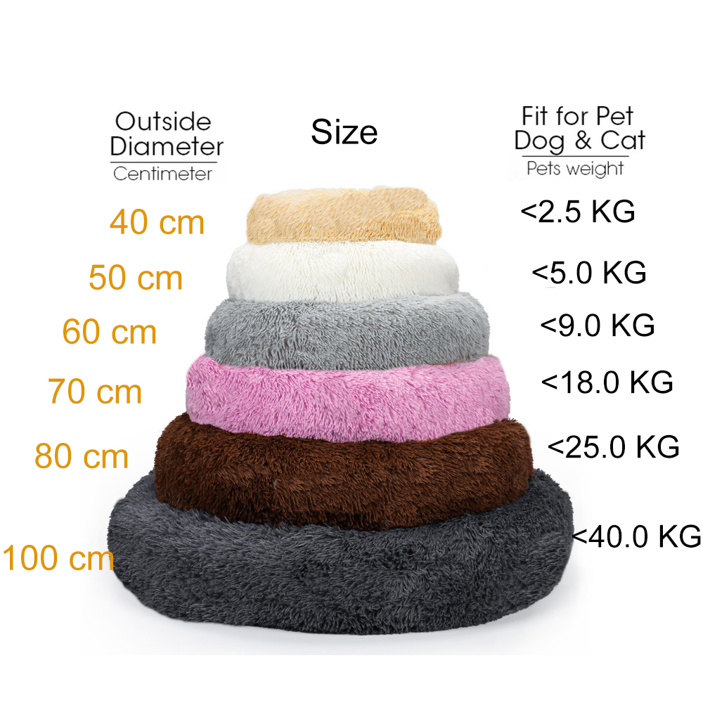 Pet-Safe Materials: Pet beds are made of non-toxic materials. Made of durable nylon and luxurious faux fur, safe in the washing machine.